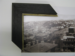 Replica old framing options are available for old photos and works of art