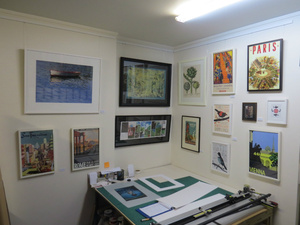Reproduction prints and posters on display in our downstairs framing workshop