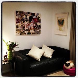 Hanging art work in the home