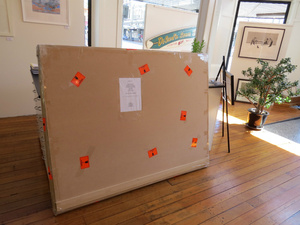 Large Original painting packaged and destined for Scotland