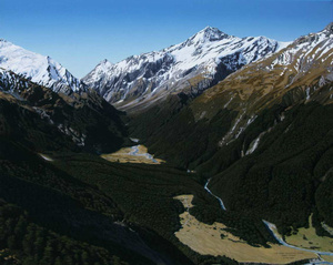 Commission of Matukituki Valley for American client by Mark McLeod